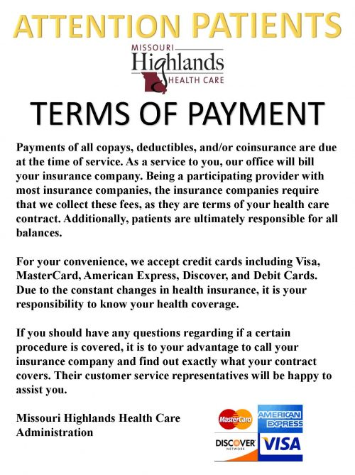 Terms of Payment Flyer